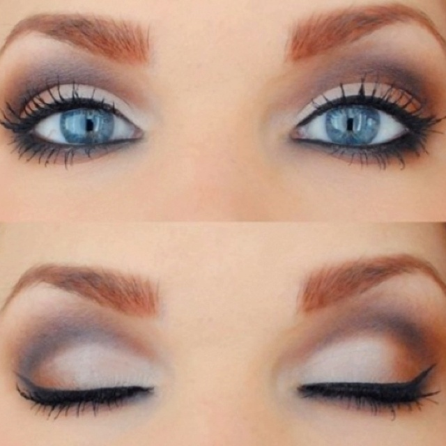 Simple & smokey.Pretty Eye, Eye Makeup, Smoky Eye, Blue Eye, Eyeshadows, Eyemakeup, Smokey Eye, Wedding Makeup, Wedding Eye