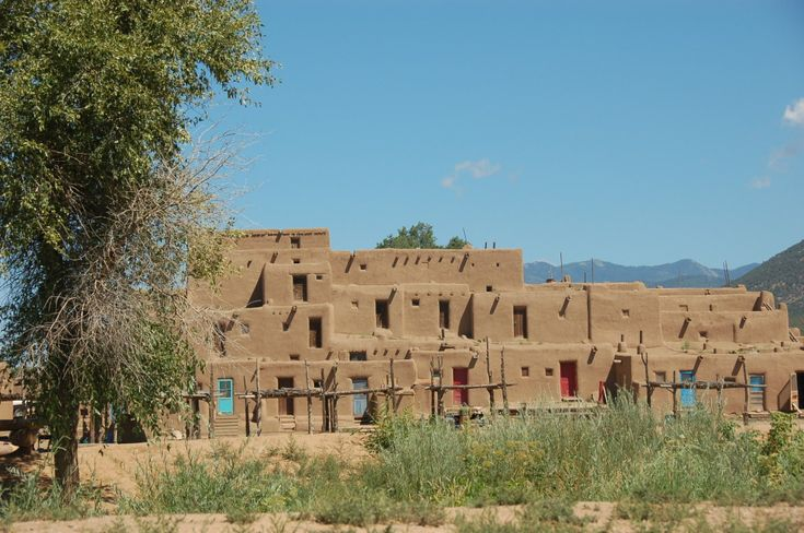 South building, Taos Pueblo. This multi-story adobe structure is over 1000 years old.