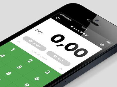 Wallmob Calculator Mobile iOS App UI Design