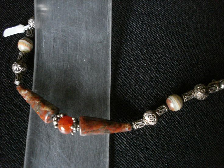 handmade bracelet of silver 925 and agate