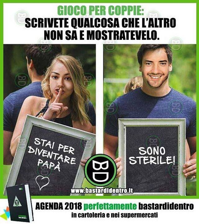 Seguici su youtube/bastardidentro #bastardidentro #perfettamentebastardidentro #coppia #amore www.bastardidentro.it