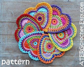 Modello cerchio colorato cuore di ATERGcrochet di ATERGcrochet