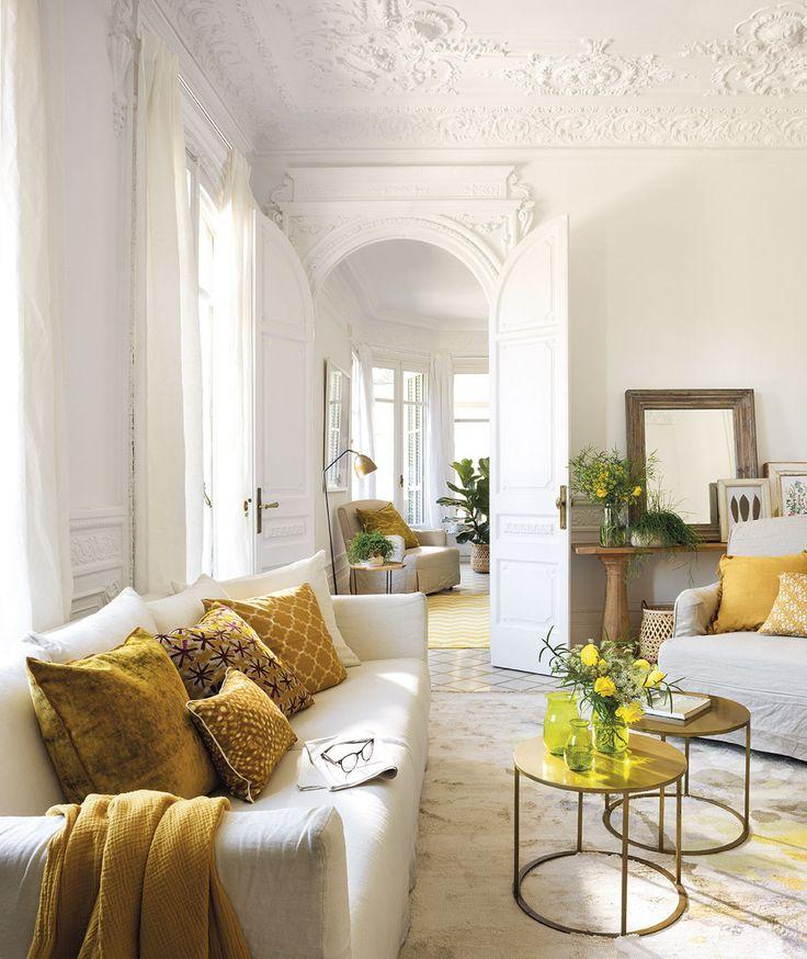 Un mismo salón, tres estilos distintos solo cambiando el color