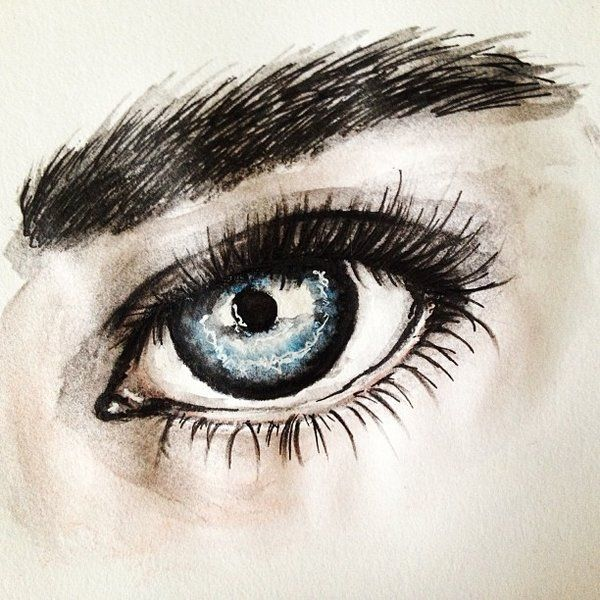 water color eye images   Quick watercolor eye sketch} by ~LumosKitty on deviantART
