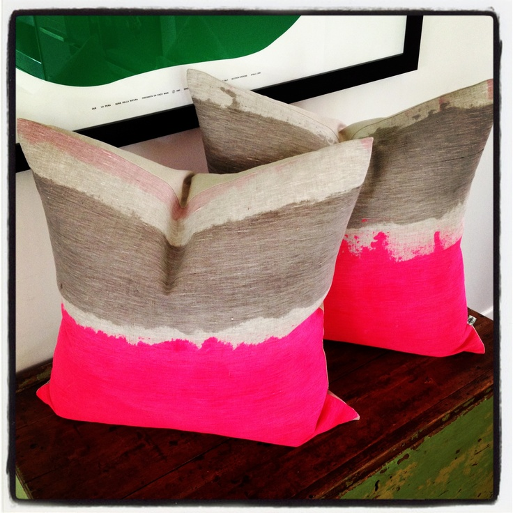 Neon pink cushions
