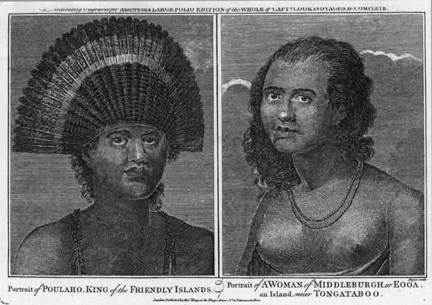 A PORTRAIT OF POULAHO KING OF THE FRIENDLY ISLANDS AND A PORTRAIT OF A WOMAN OF MIDDLEBURGH OR EOOA AN ISLAND NEAR TONGATABOO