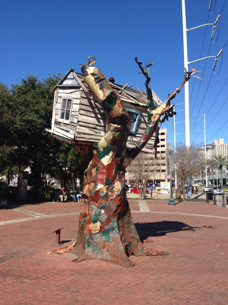 New Orleans - Katrina Memorial sculpture - across from the Convention Center on Tchoupotoulas