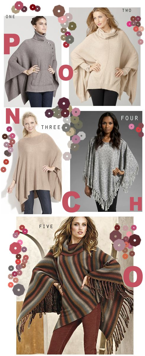 Ponchos For the Fall.... - Made By Girl