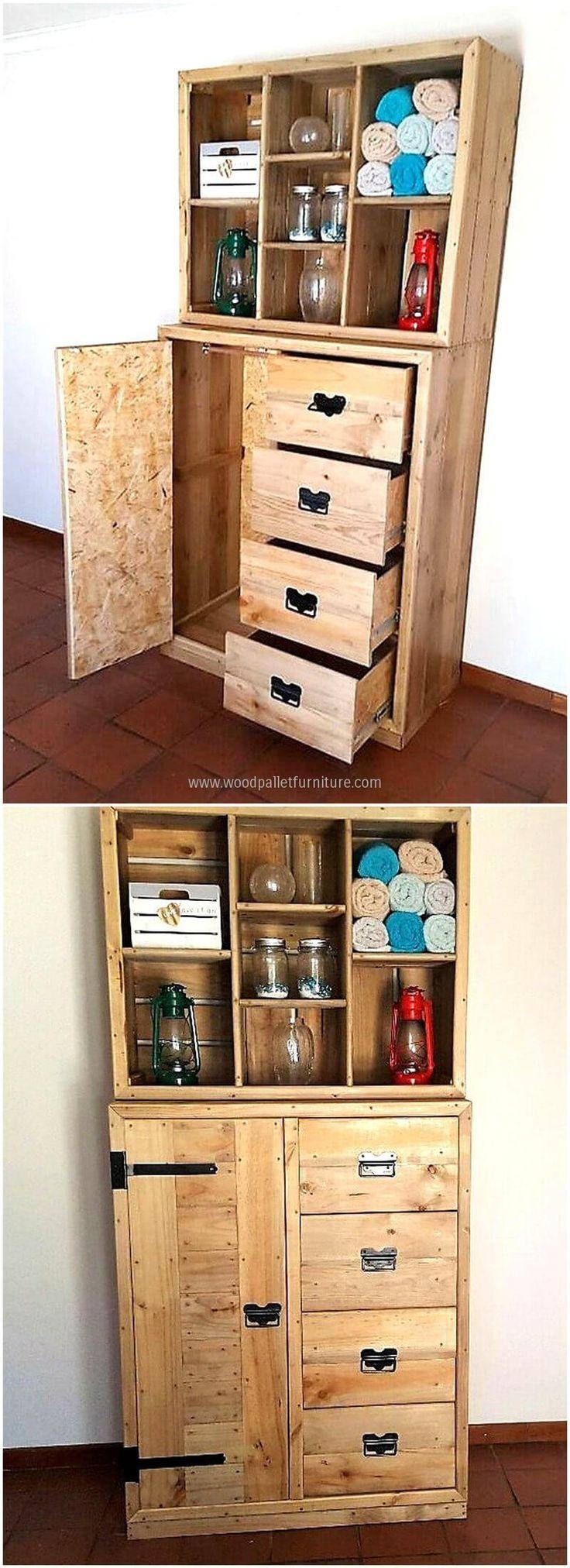 wood pallet closet plan