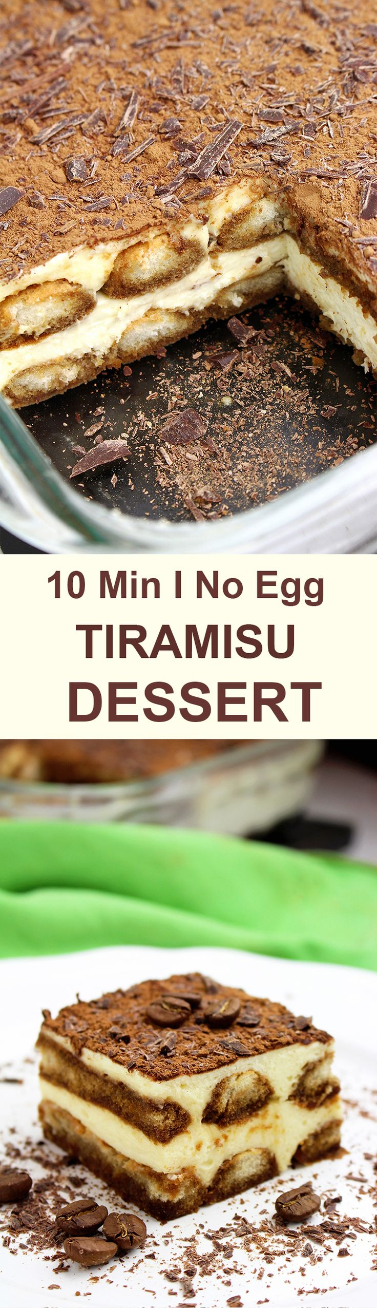 This traditional Italian dessert is well known all over the world. If you like simple, no bake and light dessert, you will love Easy Tiramisu Dessert Recipe