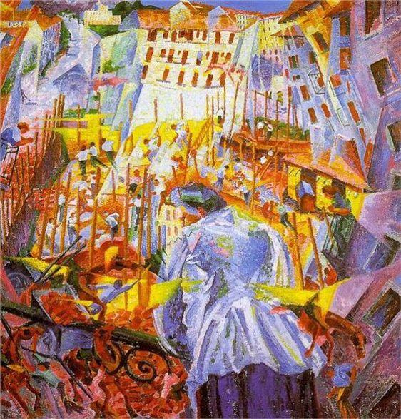 """Umberto Boccioni """"La calle entra en la casa"""", 1911"""