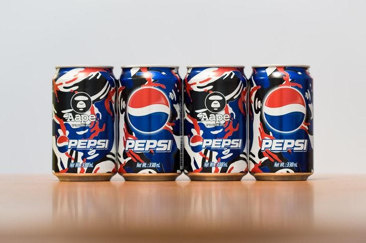 Canettes Pepsi x AAPE by A Bathing Ape 2013 'Moonface Camo'