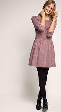 Esprit / Robe en jersey à poches italiennes
