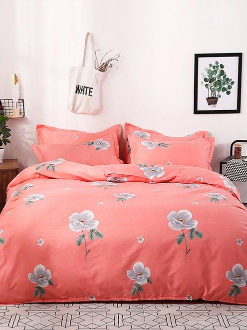 Allover Flower Print Sheet Set New Comforters Blankets On Sale