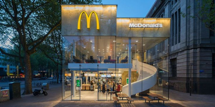 The Ugliest Building In South Holland Is Now A Super Fancy McDonald's - ELLEDecor.com