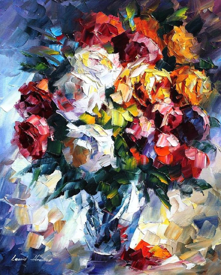 ROSES - Palette knife Oil Painting  on Canvas by Leonid Afremov http://afremov.com/ROSES-Palette-knife-Oil-Painting-on-Canvas-by-Leonid-Afremov-Size-16-x20.html?utm_source=s-pinterest&utm_medium=/afremov_usa&utm_campaign=ADD-YOUR