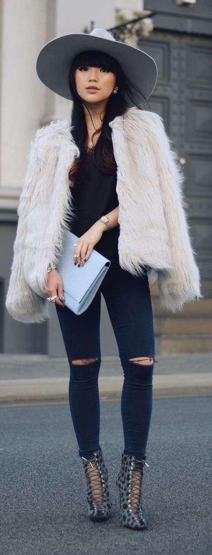 Best 25  Black fur jacket ideas on Pinterest | Winter fur coats ...