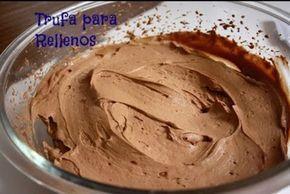 Trufa de Chocolate para Rellenar Tartas Te enseñamos a cocinar recetas fáciles cómo la receta de Trufa de Chocolate para Rellenar Tartas y muchas otras recetas de cocina..