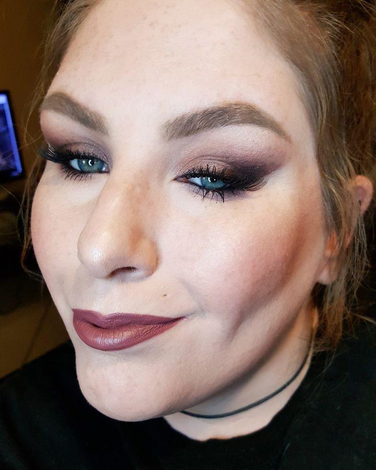 Plum Swamp Queen - Classic Bunny \ Grav3yardgirl inspired makeup look.  Tarte X Grav3yardgirl Swamp Queen Palette on the eyes + Essense Lip Liner in Soft Berry + Elf Tea Rose on the lips.