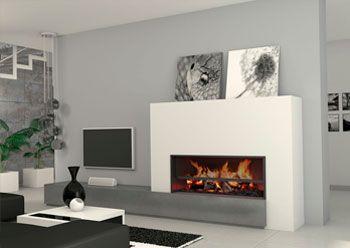 sala estar moderna llar de foc cerca amb google