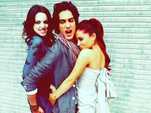 Victorious cast - Liz Gillies, Avan Jogia and Ariana Grande