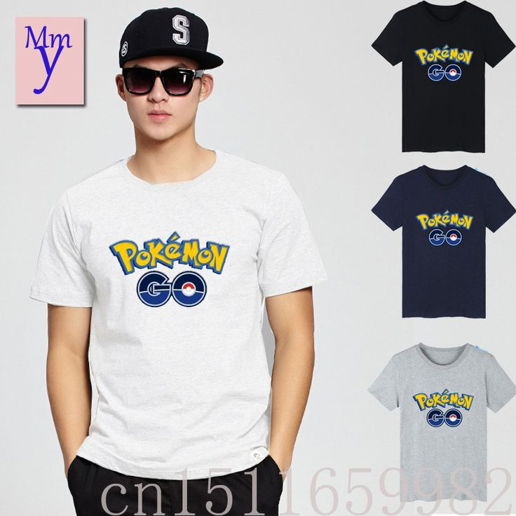 2016New Pokemon Go anime cosplay T-shirt cotton cartoon game fans gifs pokemon Print summer men women Short Casual Free shipping #Affiliate
