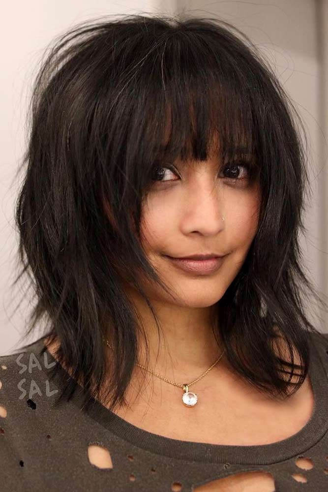 med haircuts with bangs best 25 medium hairstyles with bangs ideas on 2338