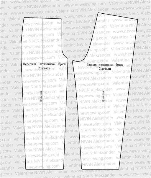 Мужские домашние штаны выкройка