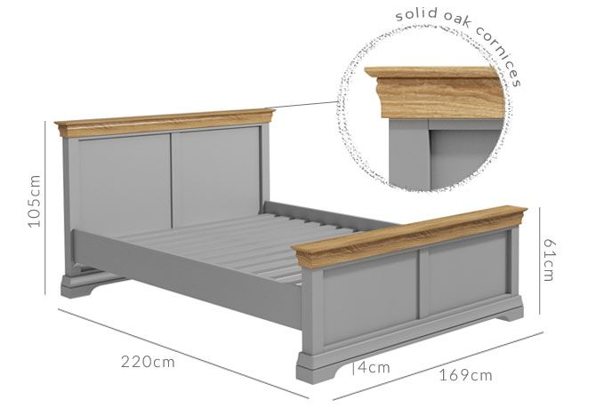 Loire king size bed dimensions