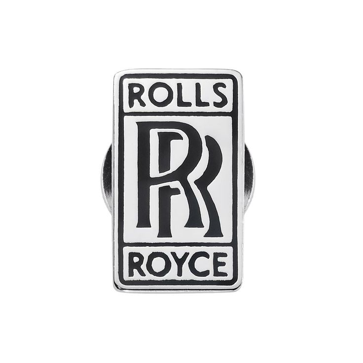 RR Badge Pin. A classic metal badge button which features the Rolls-Royce Motor Cars logo.