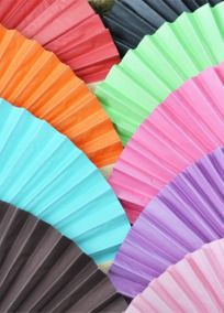 Keep your guests cool at your wedding or bridal shower with our bright Colored Paper Fans. Not only do these colorful wedding favors possess a timeless elegance. Tthey capture the cool breezy attitude of summer for any celebration at any time of the year. Available in a variety of vibrant colors, these paper fans unfold to reveal delicate colored paper inside. Try displaying your names and wedding date, offering a personal quote or use them as a place card holder by simply adding a small…