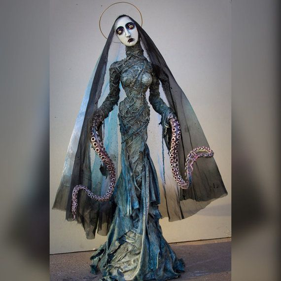Our Lady of Tentacles ooak handmade by chrisandrescreations