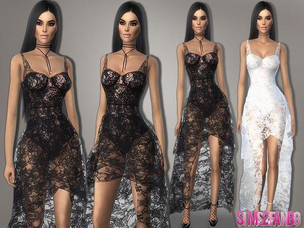 364 Transparent Lace Dress The Sims 4 Download