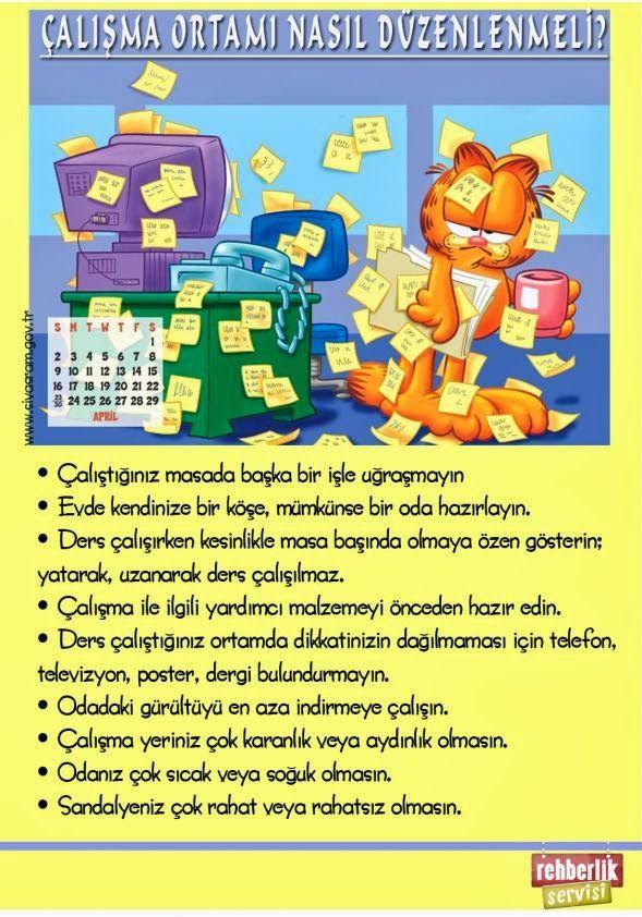 Rehberlik Servisi'nin panolarında kullanılabilecek; başarı, motivasyon ve ders çalışma ile ilgili afiş, tasarım ve görseller.