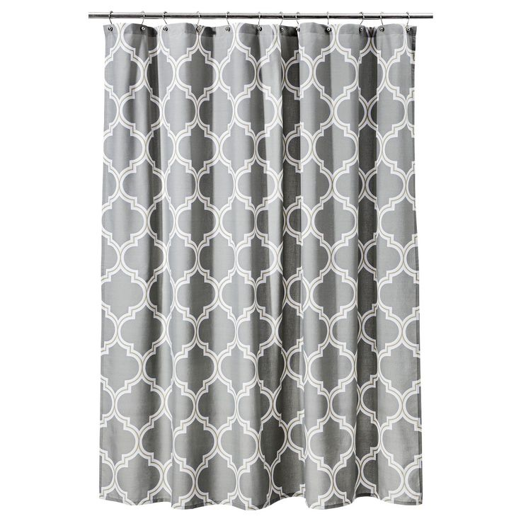 Threshold Frette Shower Curtain Gray Yellow Use For
