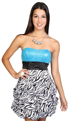 Zebra Homecoming Dresses 7