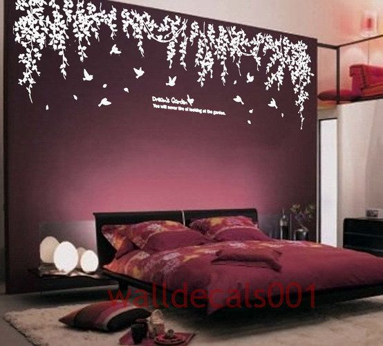 Love these wisteria branches! Removable Vinyl wall sticker wall decal Art  by walldecals001, $66.00