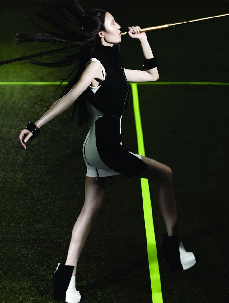 Moo King Lenses Edgy Athletic Style for Fashion Magazine: Edgy Athletic, Magazines August, Athleticbitofhighfashion Edge, Athletic Style, Fashion Editorial, Fashion Magazines, Effort Quotes, Sports Fashion, Lego Fashionista