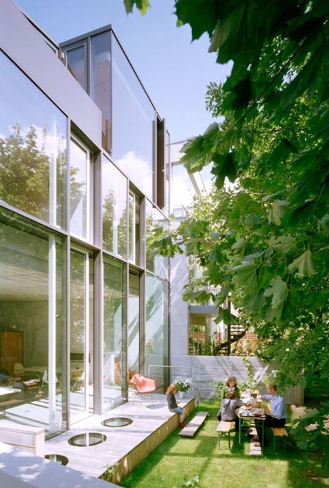 Architektenhäuser Reihenhaus In Trapezform Schöner Wohnen Garten
