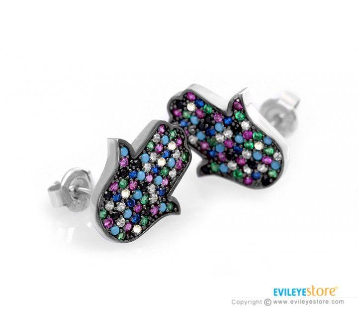 8 best Hamsa Rings & Hamsa Earrings images on Pinterest