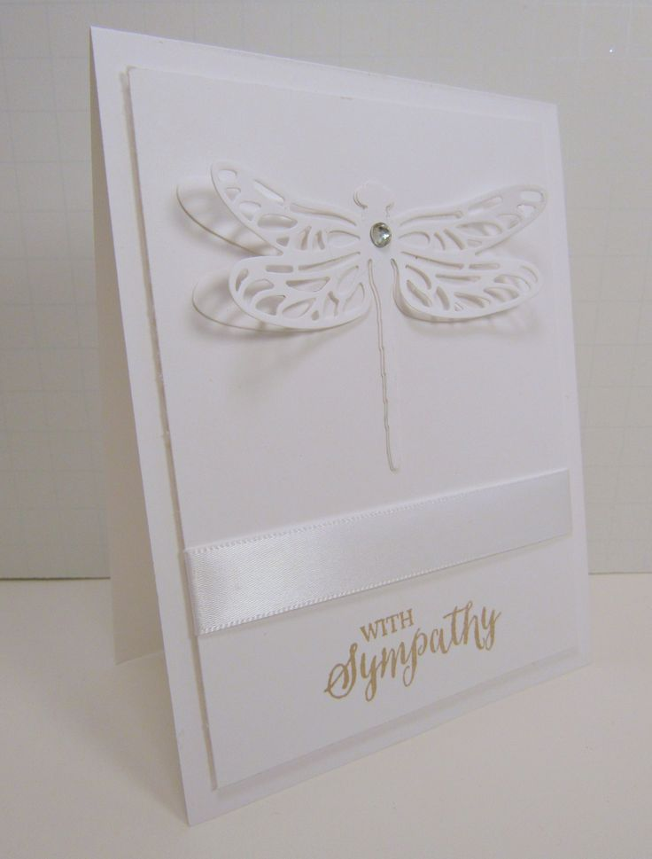 Card Making Ideas Sympathy Part - 18: Monochromatic Monday Sympathy Card - New Stampin Up Dragonfly Dreams