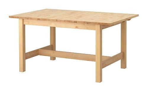 Ikea norden table apparently is expandable comes with a leaf she hacked it to get a - Expandable dining table ikea ...
