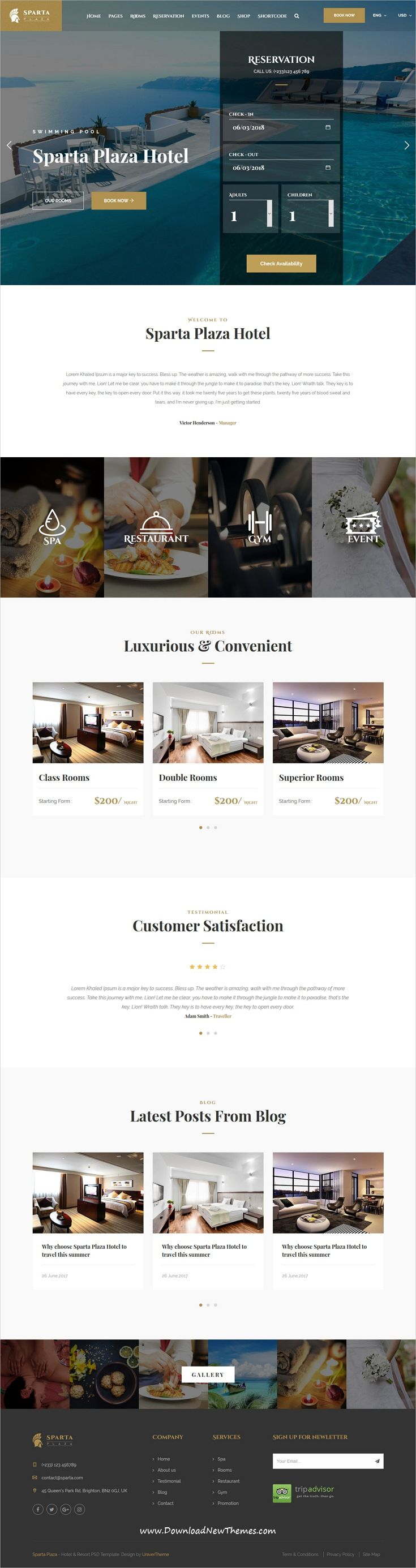 Sparta is clean and modern design responsive HTML5 #bootstrap template for #hotels and #resorts beautiful website to live preview & download click on image or Visit  #hospitality