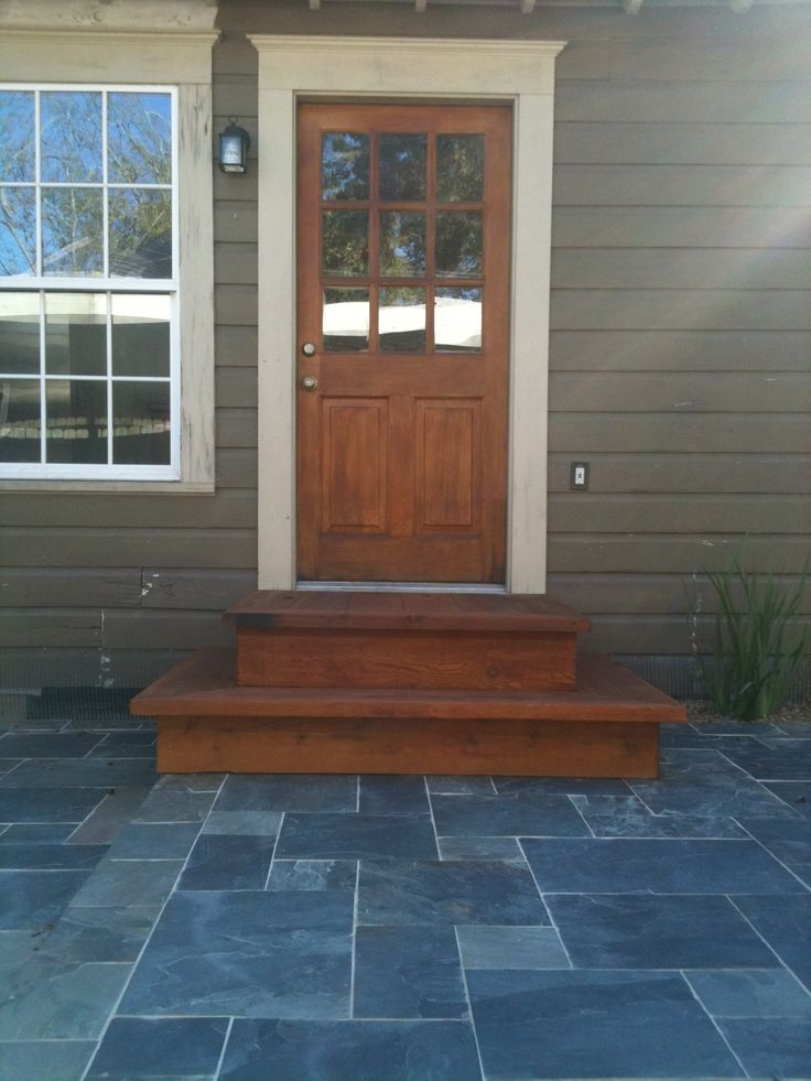 Best Slate Patio With Cedar Steps By The Western Patio Company 400 x 300