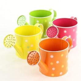 Tin Polka Dot Watering Cans