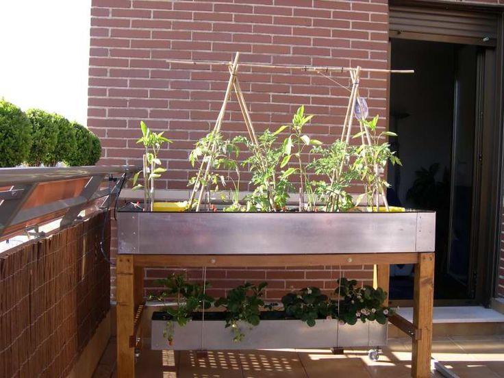 Mesa de cultivo huerto urbano pinterest gardens - Huerto urbano balcon ...