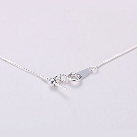 GOLD PLATED 925 STERLING SILVER BOX CHAIN NECKLACE 18 inch 45cm