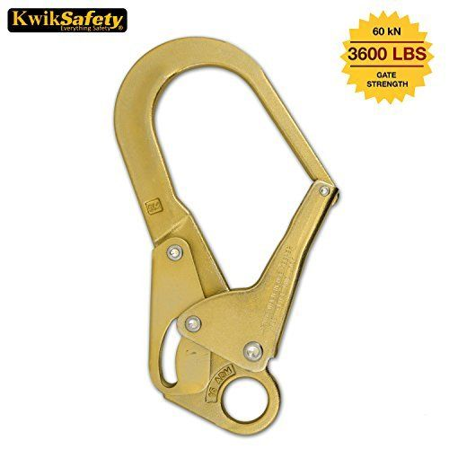 #fishingshopnow KwikSafety Rope Grab Snap Hooks   Heavy Duty Heat Treated Forged Steel Captive Eye   Polished Stainless Steel Manual Fall…