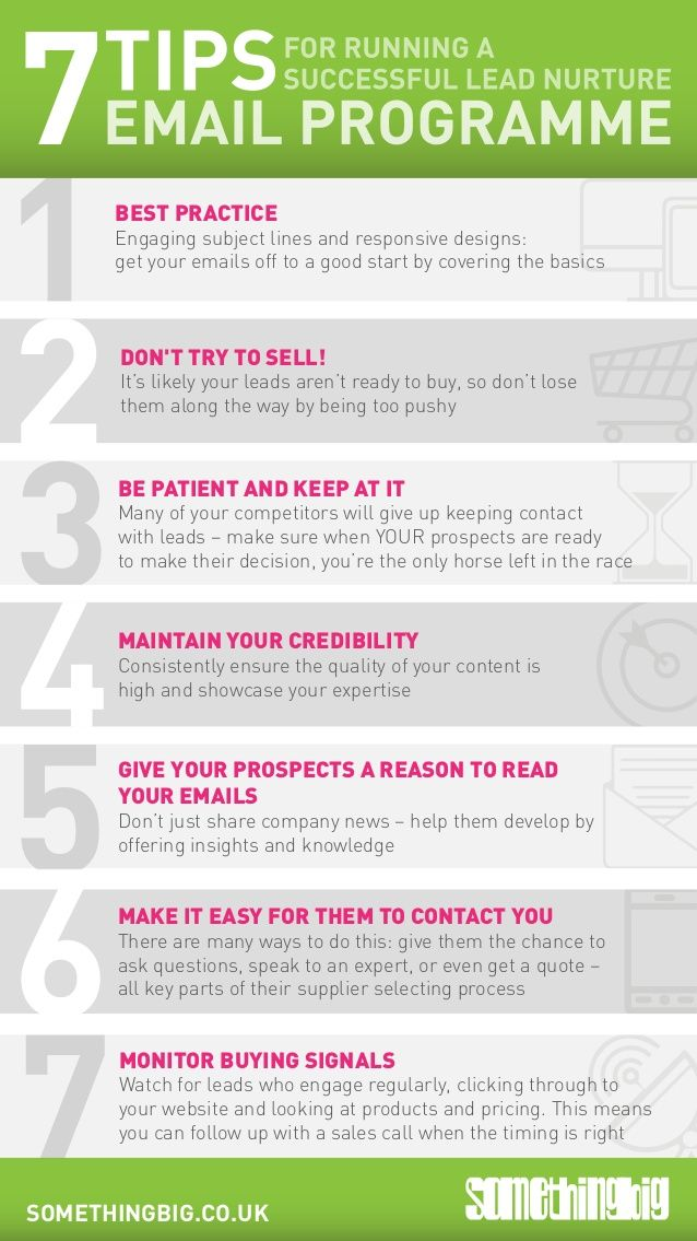 7 tips for running a successful lead nurture email campaign