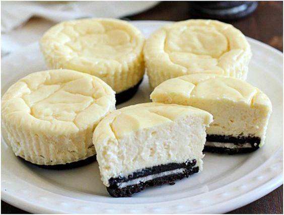 Tasty Mini Oreo Cheesecake Idee D Image De Gateau
